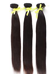 Brazilian Virgin Hair 14 Zoll 16 Zoll 18 Zoll Gerade Natural Color Machine Made Tressen 3 Stück / Set