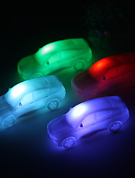 Wedding Décor Lovely Vinyl Car LED Lamp - Set of 4 (Color Changing, Built-in Botton Cell)