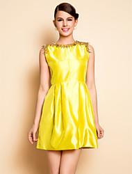 TS Metal Decor Collar Dress
