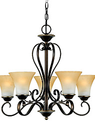 300W European Transitional Chandelier Light with 5 Lights Up in Urban Style