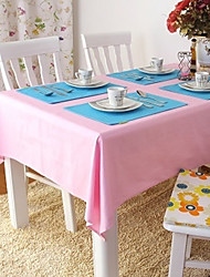 Beige / Bleu / Marron / Vert / Incarnadin / Violet / Rouge / Jaune / Orange 100% Coton Nappes de table