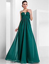 Formal Evening/Military Ball Dress - Dark Green Plus Sizes A-line/Princess Sweetheart/Spaghetti Straps Floor-length Chiffon