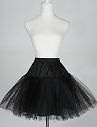 Slips A-Line Slip Ball Gown Slip Short-Length 5 Tulle Netting Taffeta Black