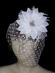 Hermosa Feather | franela con tul / Tocados de novia de encaje
