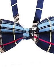 Cat / Dog Tie/Bow Tie Blue / Black Dog Clothes Winter / Summer / Spring/Fall Plaid/Check Wedding / Fashion