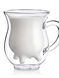 criativa vaca estilo úbere creme jarro jarro de parede dupla