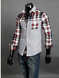 Men's Long Sleeve Shirt Casual Plaids & Checks