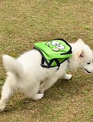 Зеленый мультфильм Пятнистый Pet проводка рюкзак с мешком