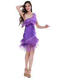 Desempenho dancewear spandex Dança Latina Vestido para senhoras mais cores