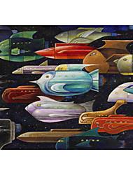 Printed Art Cartoon Rocket Fish by Bill Bell