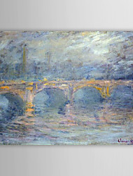 Famous Oil Painting Waterloo Bridge at Sunset,Pink Effect by Claude Monet