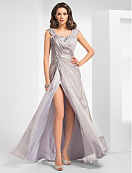 TS Couture® Formal Evening / Military Ball Dress - Sexy Plus Size / Petite Sheath / Column Straps Floor-length Chiffon with Beading / Split Front