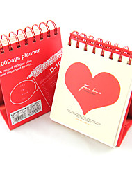 Любовь 100 дней календарного плана ноутбуков (случайный цвет)