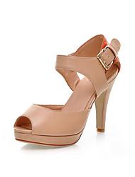 Искусственная кожа шпильках пятки сандалии с раздельным Объединенное бюро / партии / вечерние туфли (больше цветов)
