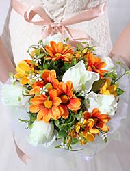 Belle Satin Wedding Forme Ronde Forme Bouquet