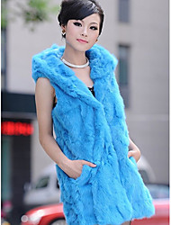 Hood Rabbit Fur Casual/Party Vest(More Colors)