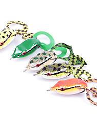 Leurre souple / leurres de pêche Leurre souple / Grenouille pcs g Once mm pouce Vert / Orange / Jaune Plastique souplePêche en mer /