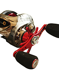 Top Fishing NS Serie Left Hand 10BB Red Casting Reel (0.28/150)