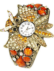 Charmant Alloy Bird Design met Multicolor Crystal Quartz Dress horloge