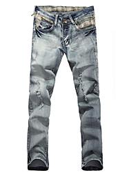 Lavado Jeans Frazzle delgadas de los hombres