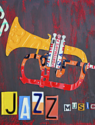 Printed Art Still Life License Plate Art Jazz Series by Design Turnpike