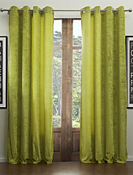 (One Panel) Chenille Solid Classic Resurrection Eco-friendly Curtain