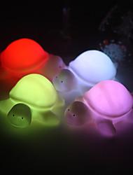 Свадьба Декор мило виниловых маленькие черепахи светодиодные лампы - комплект из 4 (изменение цвета, встроенный в камере ра боты)