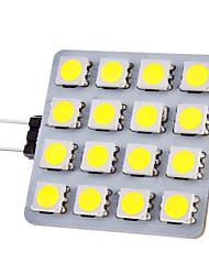 G4 2W 16x5050SMD 150-180LM 6000-6500K luce naturale bianca Lampadina LED Spot (12V)