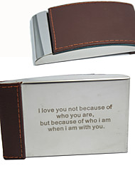 Personalized Graceful Business Card Holder With Leatherette Cover