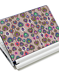 """Peacock Feather"" Pattern Laptop Notebook cubrir etiqueta protectora de la piel para el 10 ""/ 15"" Laptop 18366"
