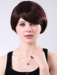 Capless Lovely Short High Quality Synthetic Brown Curly Side Bang Wings