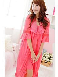 Frauen Casual netter Bogen Silk Lounge Wear Set