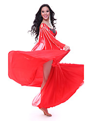 Belly Dance Outfits Women's Training Tulle Crystals/Rhinestones Sleeveless