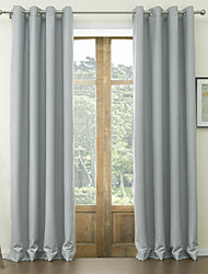 Two Panels Curtain Neoclassical , Solid Polyester Material Blackout Curtains Drapes Home Decoration For Window