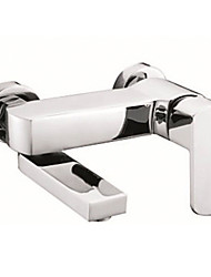 Chrome Finish Centerset Wall Mount Contemporary Style Brass Tub Faucets