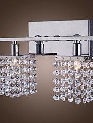 25W G9 Crystal and Metal Wall Lamp with 2 lights