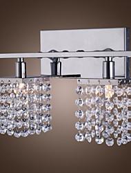 25W G9 cristallo e metallo Lampada da parete con 2 luci