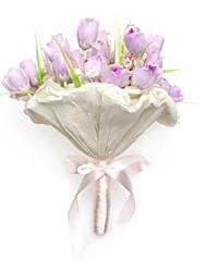 Doux Lilas ronde bouquet de mariage / Bouquet de mariée