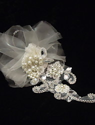 Women's Rhinestone / Imitation Pearl / Net Headpiece-Special Occasion Fascinators As the Picture
