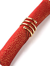 Set of 4 Modern Red Design Polyester Napkins