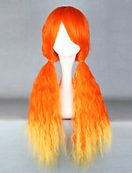 Zipper Orange and Yellow 70cm Punk Lolita Wave Wig