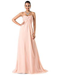 TS Couture® Prom / Formal Evening / Military Ball Dress - Elegant Plus Size / Petite Sheath / Column Sweetheart / Spaghetti Straps Sweep / Brush Train