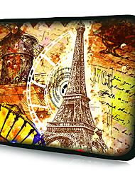 """""""Torre Eiffel Patrón"""" Patrón Funda impermeable manga para 7 """"/ 10"""" / 11 """"/ 13"""" / 15 """"Laptop y Tablet"""