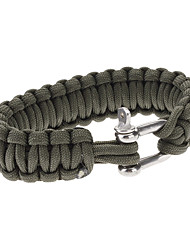 Para-Cord Survival Bracelet with Iron Connection Buckle C (3 Colors)