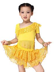 Dancewear Spandex Latin Dance Outfit Top y falda para niños