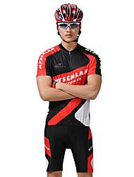 MYSENLAN PN сетка + Flex Материал с коротким рукавом быстросохнущие Костюмы Велоспорт (черный, красный)