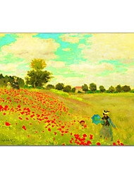 Field of Poppies, c.1886 by Claude Monet Famous Art Print