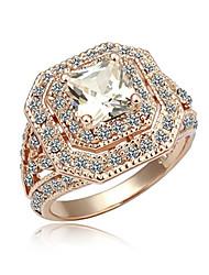 Zirkonia und 18K Gold überzogene Ringe (Surface Breite: 20 mm)