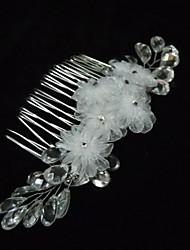 Legierung mit Crystal / Silk Flower Damen Kämme