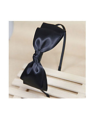Women's Layered Black Ribbon Bow Hair Band